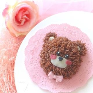 くまちゃんケーキを作ろうʕ•ᴥ•ʔパーティーデコレーションケーキ - 料理
