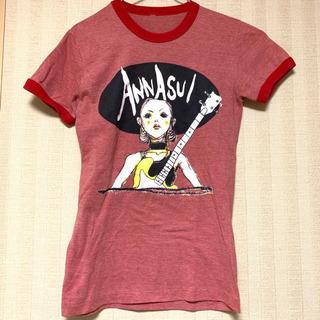 Tシャツ アナスイ ANNA SUI ブランド 赤 イラスト ギター