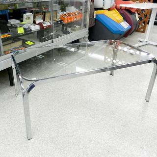 ガラステーブル センターテーブル 幅102.5cm ローテブル ...