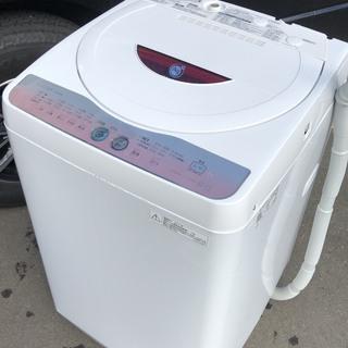 シャープ 洗濯機 6.0kg 2011年 ピンク グラデ