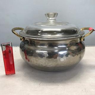 ステンレス鍋 17cm ガラス蓋付き 未使用