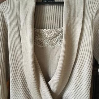 【値下げ】Putielal💕Lサイズ重ね着風デザインセーター