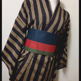 【未使用】おそらく正絹アンティーク着物 FENDI風工芸品…