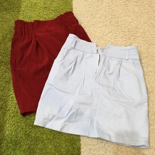 ひざ丈スカート 2枚セット