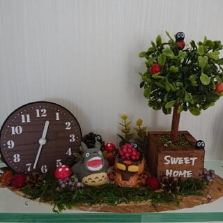 ジブリ トトロ 時計 カレンダー ハンドメイド
