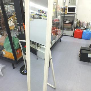 PayPay可 手稲リサイクル 姿見 ミラー スタンド鏡 カントリー調 白木目¥3,800- - 札幌市