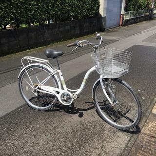 【前後新品タイヤ】26インチ・オシャレ自転車・外装ギヤ・中古