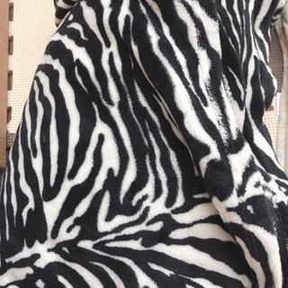 毛布 ゼブラ柄