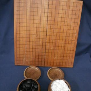 中古 囲碁 碁石 碁盤(折りたたみ式) セット