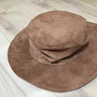 スエード 茶色 帽子
