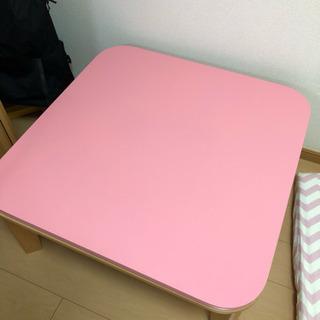 こたつテーブル ピンク コードなし
