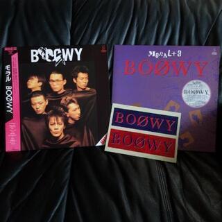 BOOWY レコード 5枚( ポスター、ステッカー、カード 付)...