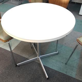 中古 5点セット ラウンドテーブル 丸テーブル ラウンジテーブル 応接・ロビー・カフェ 椅子4脚  - 家具