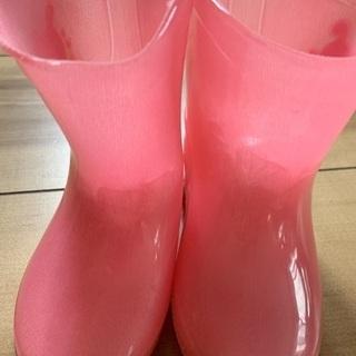 新品 子ども用ピンク色長靴 サイズ14cm