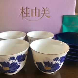 【新品未使用】桂由美 茶器セット 藍花 茶菓揃