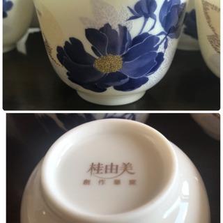 【新品未使用】桂由美 茶器セット 藍花 茶菓揃 - 生活雑貨