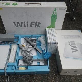 任天堂 Wii本体 ソフト5本セット マリオカート Wiifit