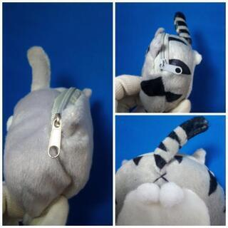 新品:猫のお尻 ミニポーチ2個セット(グレー&サバトラ) - 売ります・あげます