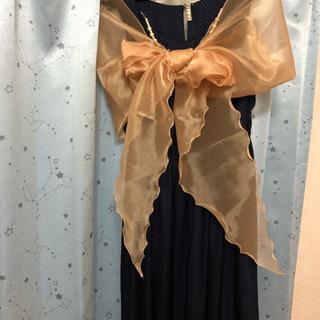 【中古】パーティー ドレス用 ショール オレンジ系
