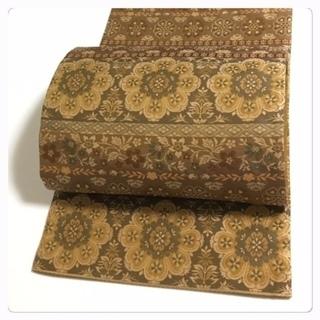 高級呉服 美品 西陣織り 極上 正絹 袋帯 華紋 中古品