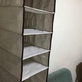 ニトリ 吊り収納5段(ブラウニー)