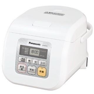 パナソニック 3合 炊飯器 マイコン式 ホワイト SR-ML051-W