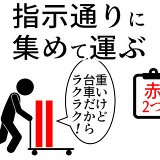 【土日祝休み+1400円!】集めて運ぶだけ!◆未経験歓迎◆