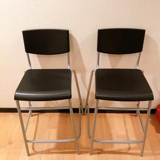 【未使用新品】IKEA/カウンタースツール/背もたれ付き