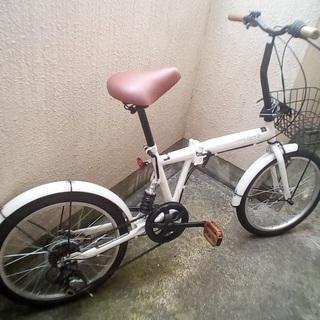 自転車20インチ リアサスペンション 外装6段 折りたたみ