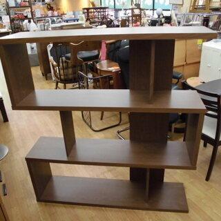 オープンシェルフ 木製ラック 幅広120㎝ ブラウン 収納棚 西岡店