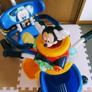 ミッキー三輪車【ディズニー】ミッキーポップンカーゴ三輪車 ブルー