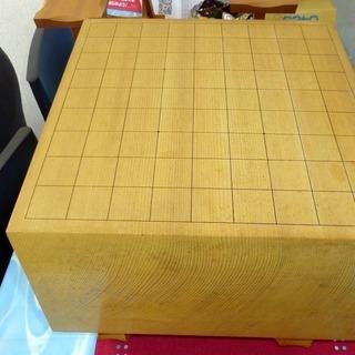 柾目(天柾)60号 足付き将棋盤 駒台付き 中古