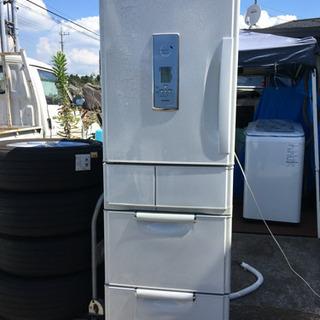 中古品 5ドア 冷蔵庫 三菱 401L 2002年制