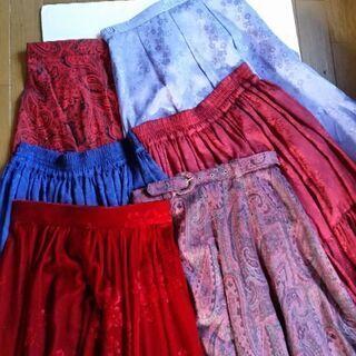 社交ダンス用外出用スカート6点セット