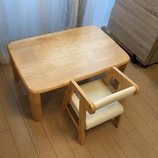 子供用椅子+テーブルセット