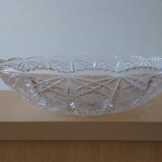切子風ガラス鉢