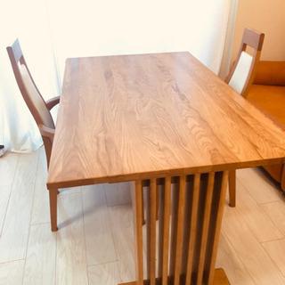 ダイニングテーブル 椅子2脚付