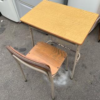 昭和レトロ 学校机 椅子 カフェ 民泊など 在庫5脚