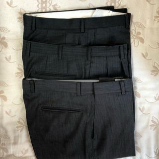 濃灰(濃いグレー) ビジネスパンツ W86~88 大きいサ…