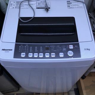 〔終了しました〕5.5kg 洗濯機 ハイセンス 17年製[引取りのみ]