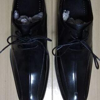 値下げ🎀限定 本革靴 黒 新品未使用 25.5cm