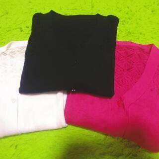 七分袖サマーセーター 薄地3枚セット Mサイズ