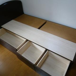 収納付きシングルベッド(マット無し)