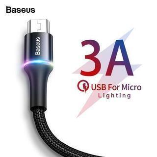 Micro usb ハイスピード充電ケーブル 50cm 新…