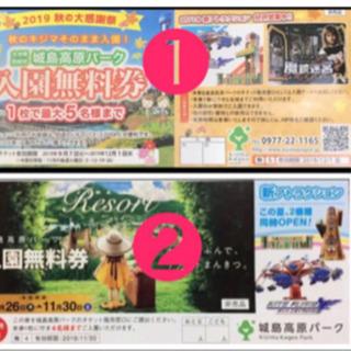 🏰4〜5名無料🏰城島高原🏰期限〜12/1🏰