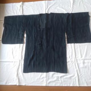 道行:薄物 紗 藍と銀の織り模様 丈約86cm