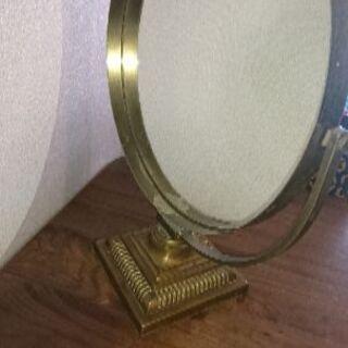 アンティーク調インテリア鏡 真鍮製 ゴージャス