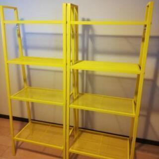 IKEA黄色シェルフユニット2個