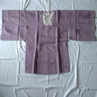 無双道行:身丈約91cm 正絹 色無地 薄紫色 ともぎれ付