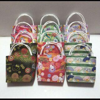 ミニミニ紙袋(横マチ無し) キティちゃん柄 12枚セット